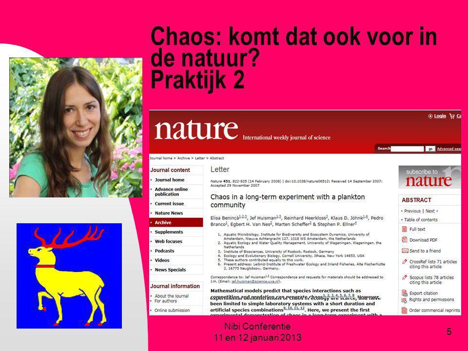 Chaos: komt dat ook voor in de natuur Praktijk 2