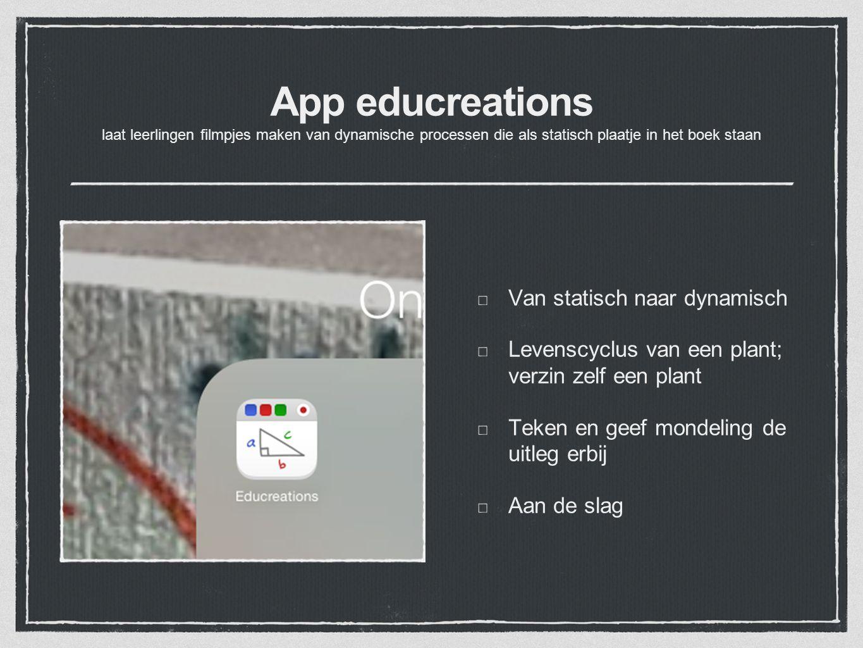 App educreations laat leerlingen filmpjes maken van dynamische processen die als statisch plaatje in het boek staan