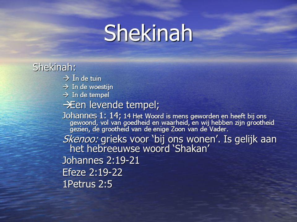 Shekinah Shekinah: Een levende tempel;