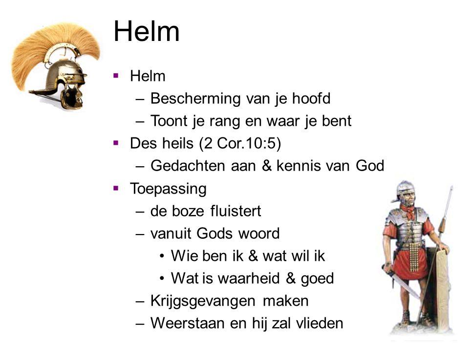 Helm Helm Bescherming van je hoofd Toont je rang en waar je bent