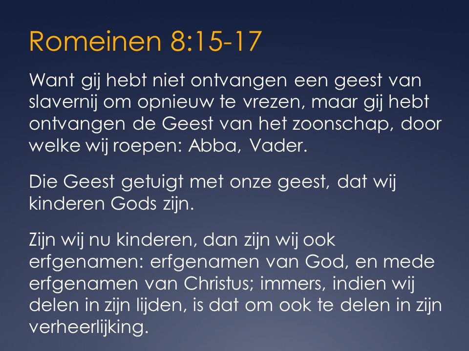 Romeinen 8:15-17