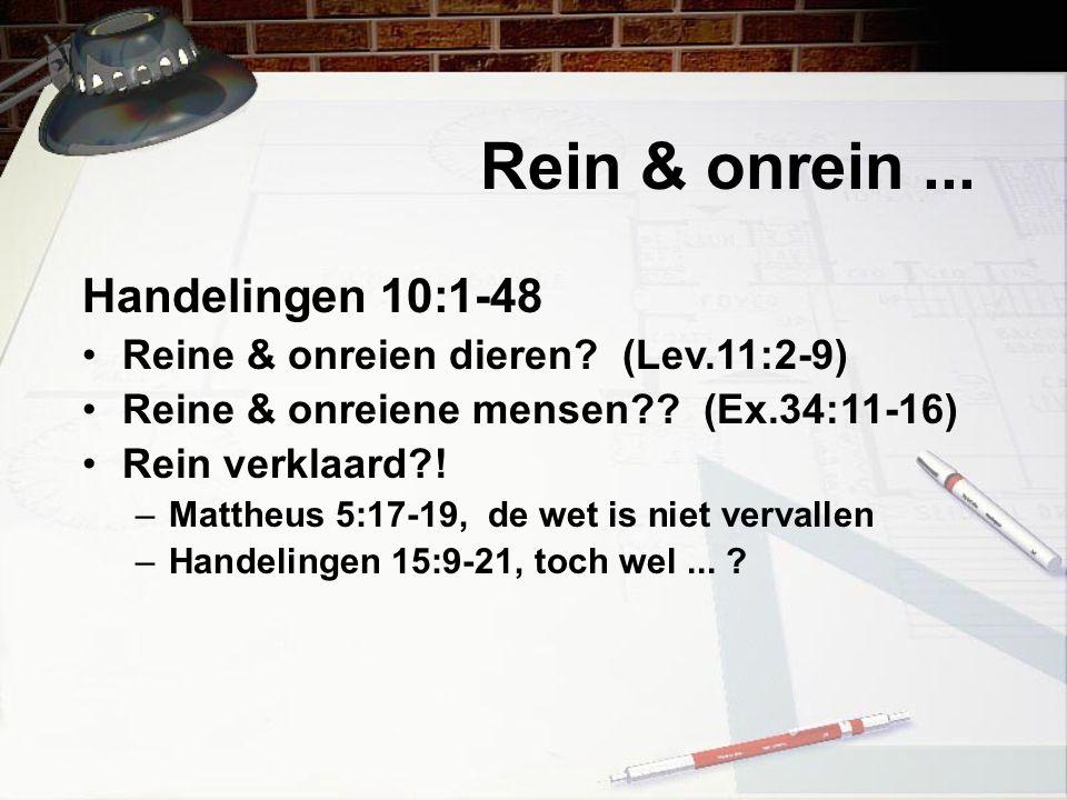 Rein & onrein ... Handelingen 10:1-48