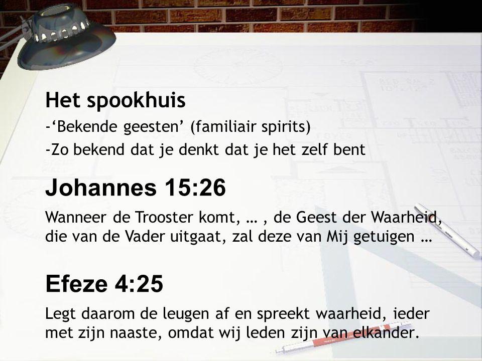 Johannes 15:26 Efeze 4:25 Het spookhuis