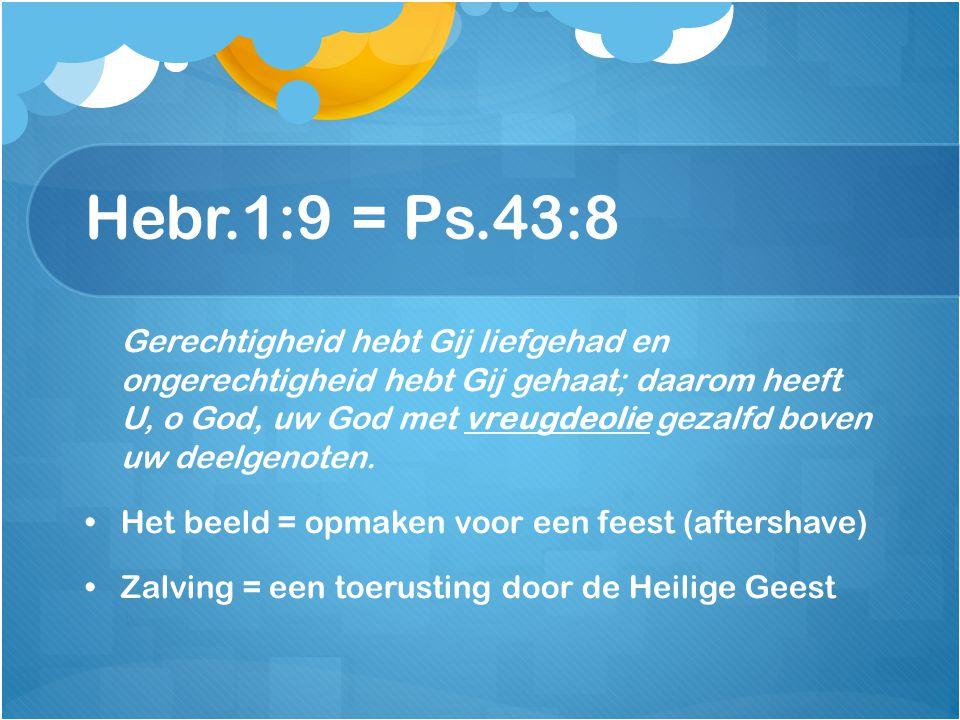 Hebr.1:9 = Ps.43:8