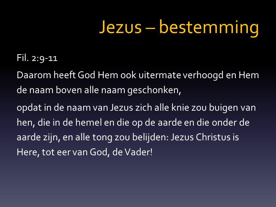 Jezus – bestemming