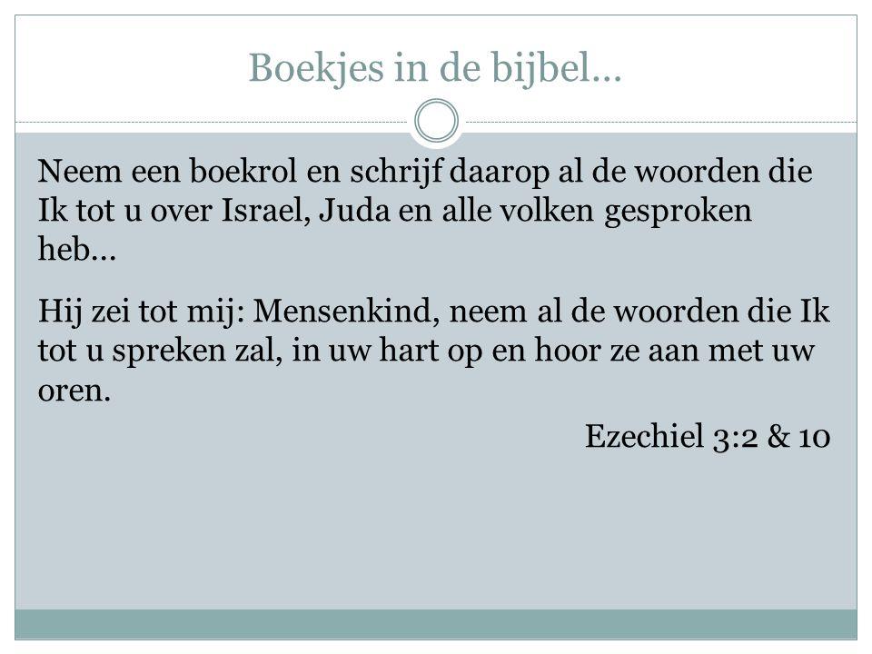 Boekjes in de bijbel…