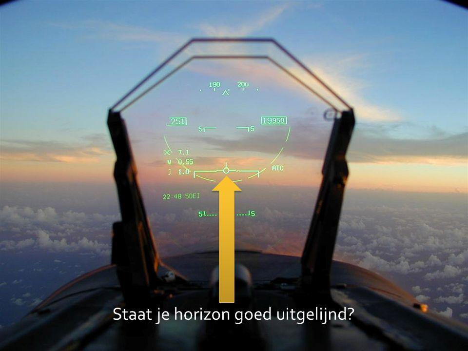 Staat je horizon goed uitgelijnd