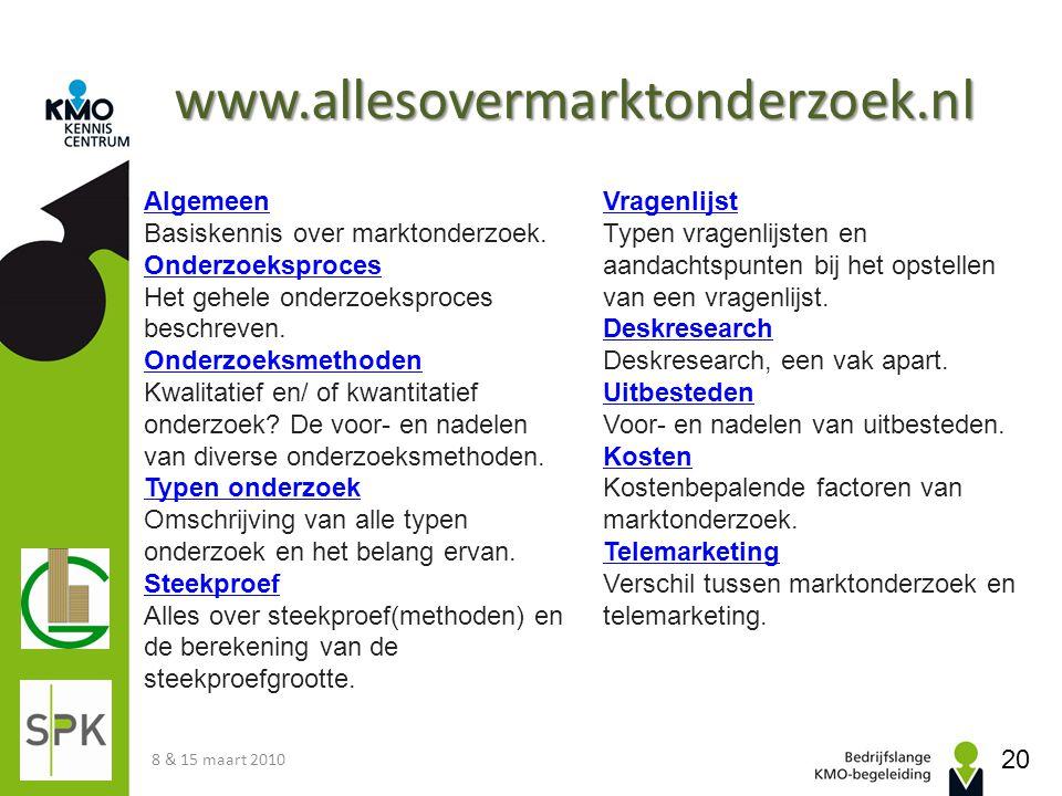 www.allesovermarktonderzoek.nl Algemeen