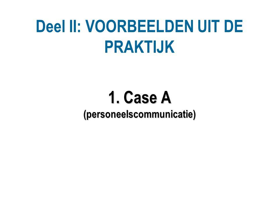 1. Case A (personeelscommunicatie)