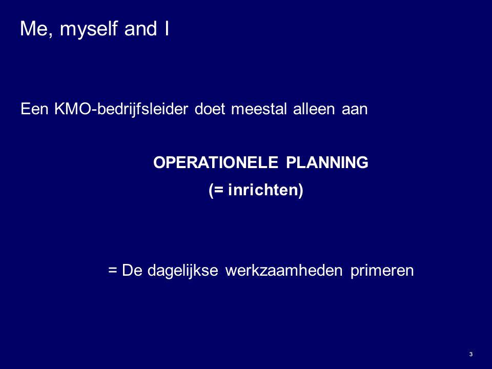 OPERATIONELE PLANNING