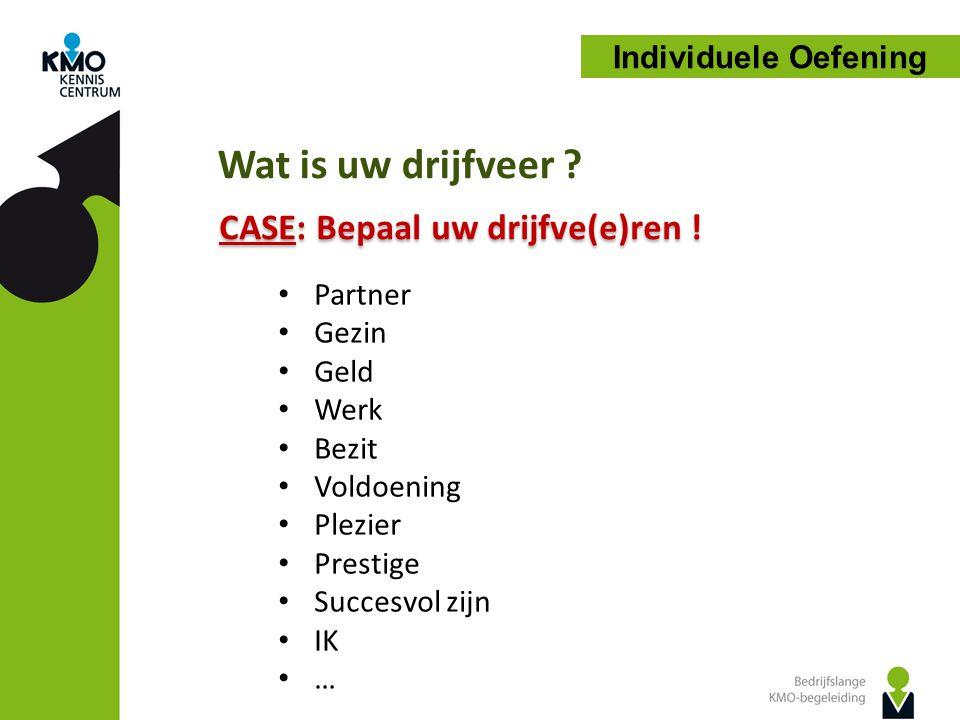 CASE: Bepaal uw drijfve(e)ren !
