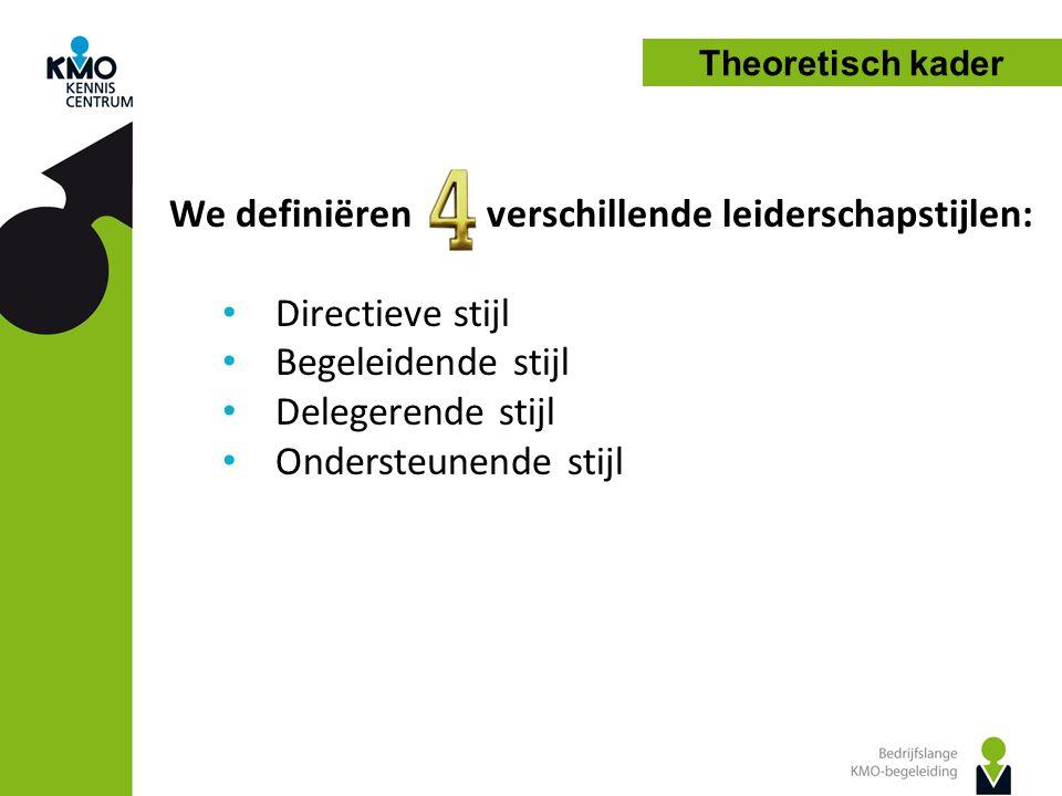 We definiëren verschillende leiderschapstijlen: Directieve stijl
