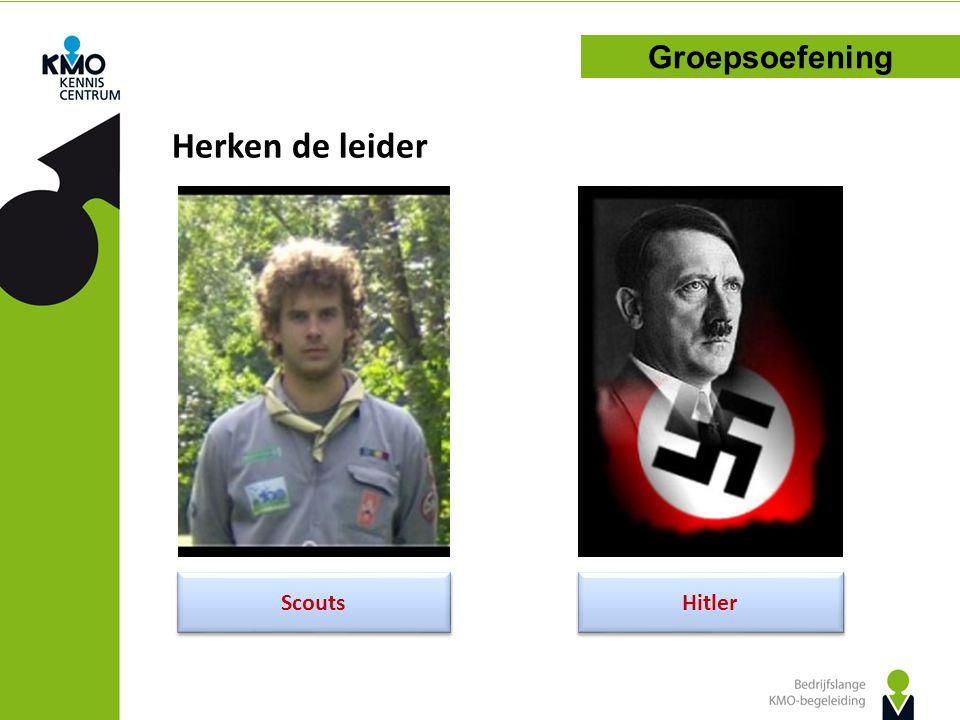 Herken de leider Groepsoefening Scouts Hitler