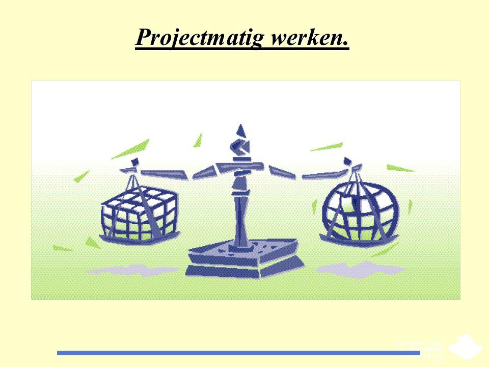 Projectmatig werken. CKZ Limburg maakt u graag wegwijs ........