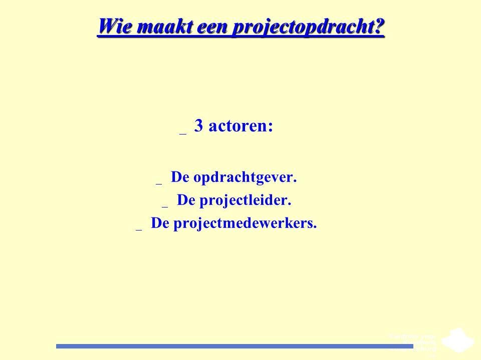 Wie maakt een projectopdracht