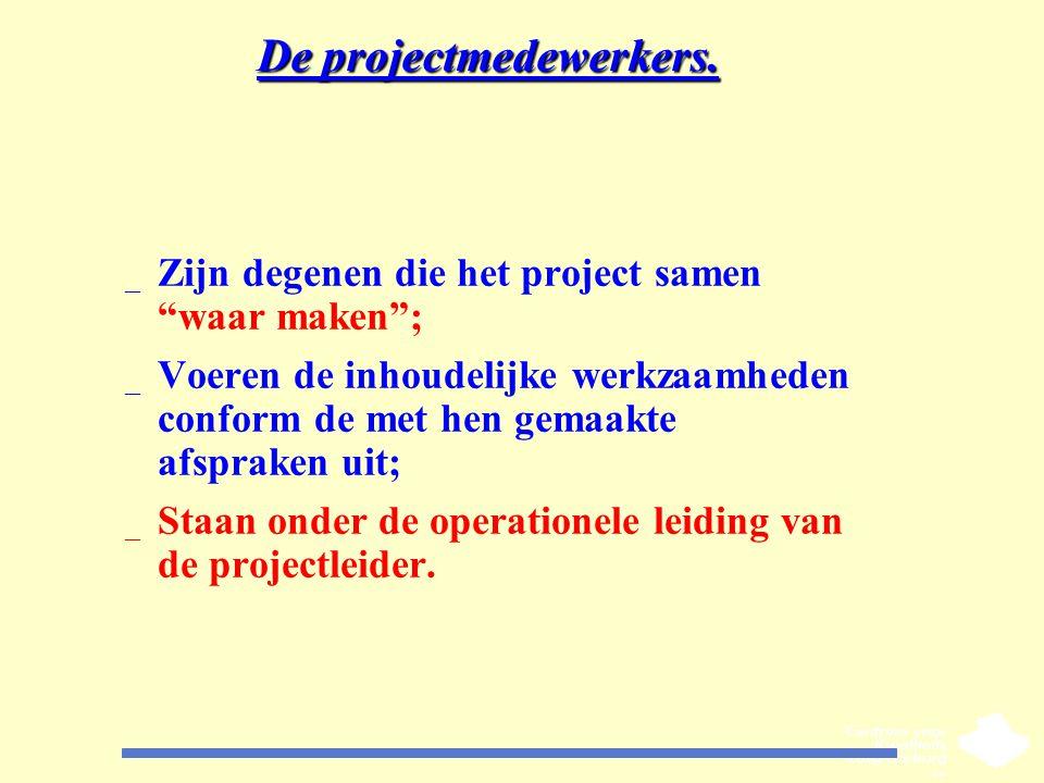 De projectmedewerkers.