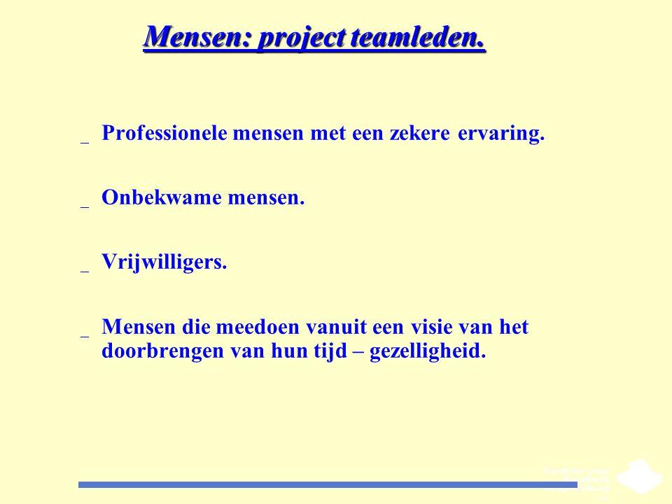 Mensen: project teamleden.