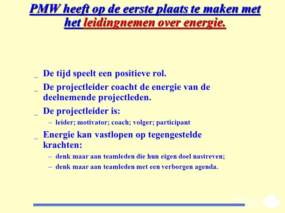 PMW heeft op de eerste plaats te maken met het leidingnemen over energie.