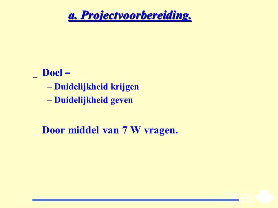 a. Projectvoorbereiding.
