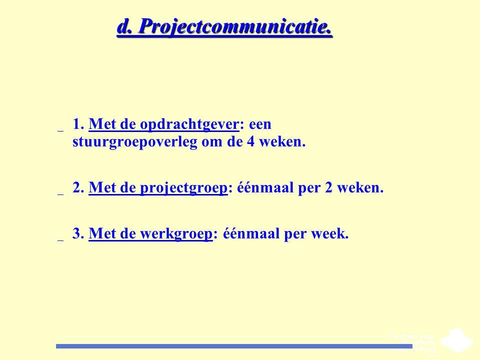 d. Projectcommunicatie.
