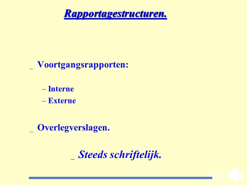 Rapportagestructuren.