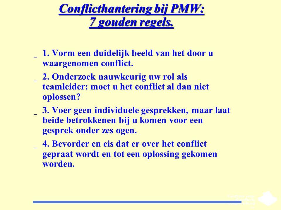 Conflicthantering bij PMW: 7 gouden regels.