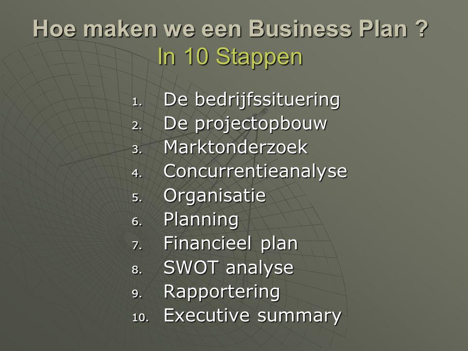 Hoe maken we een Business Plan In 10 Stappen