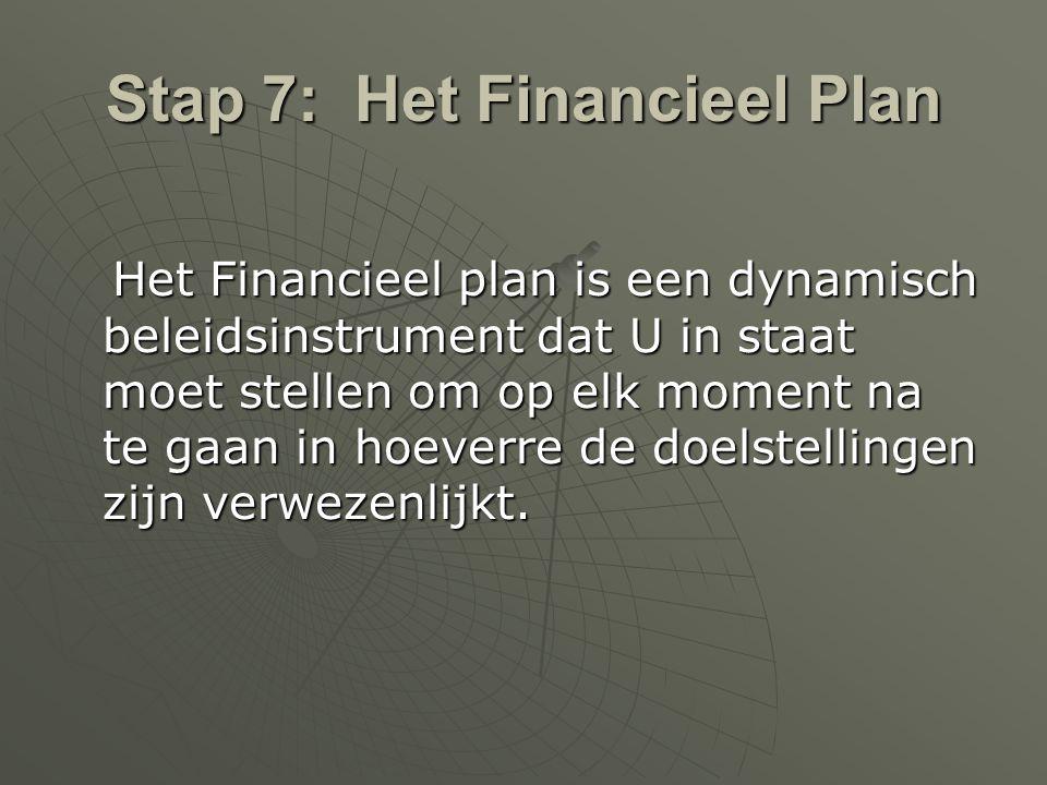 Stap 7: Het Financieel Plan