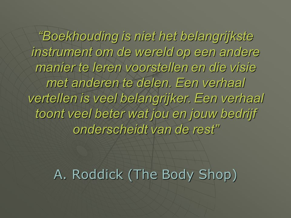 A. Roddick (The Body Shop)