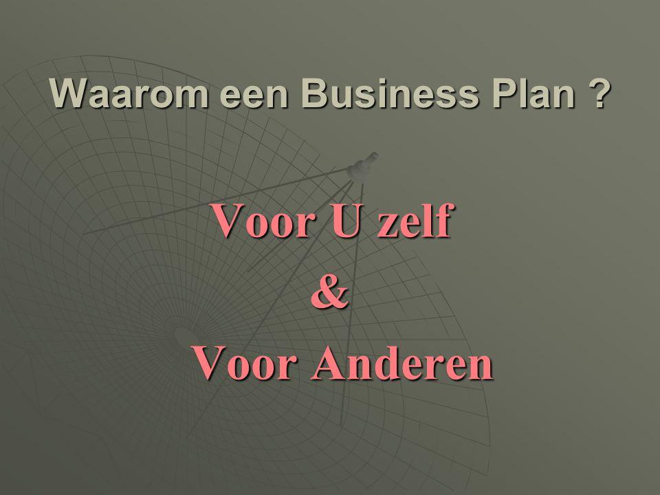 Waarom een Business Plan