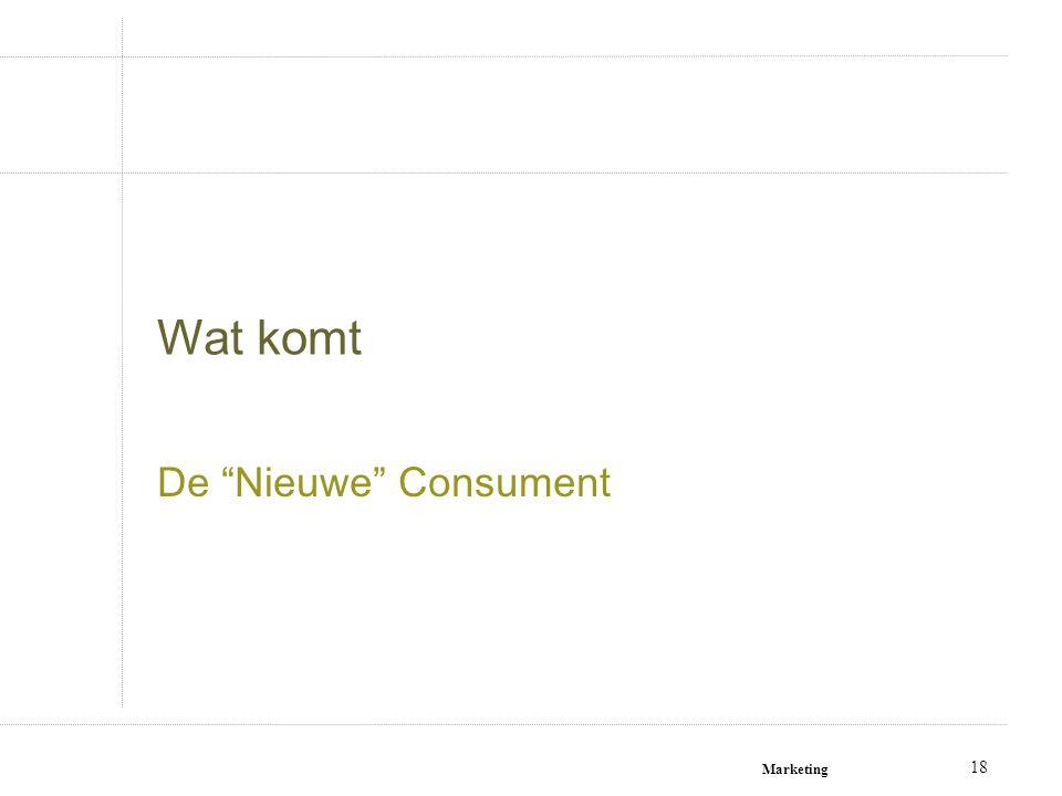Wat komt De Nieuwe Consument