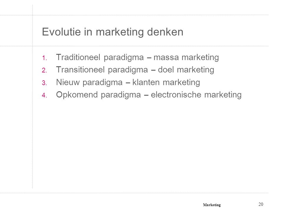 Evolutie in marketing denken