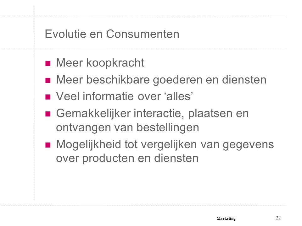 Evolutie en Consumenten