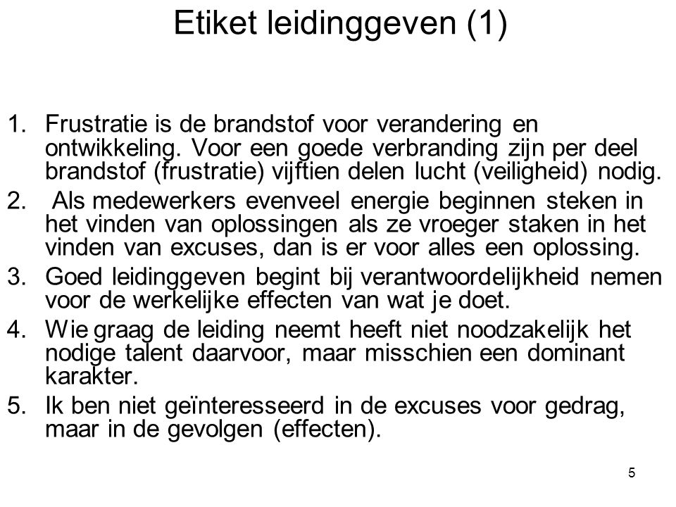 Etiket leidinggeven (1)