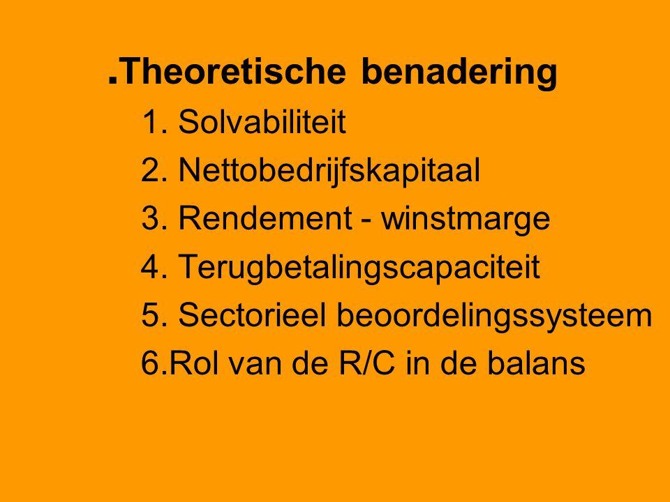 .Theoretische benadering