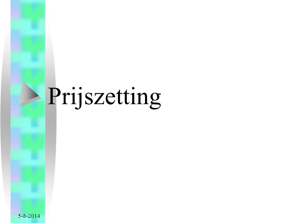 Prijszetting