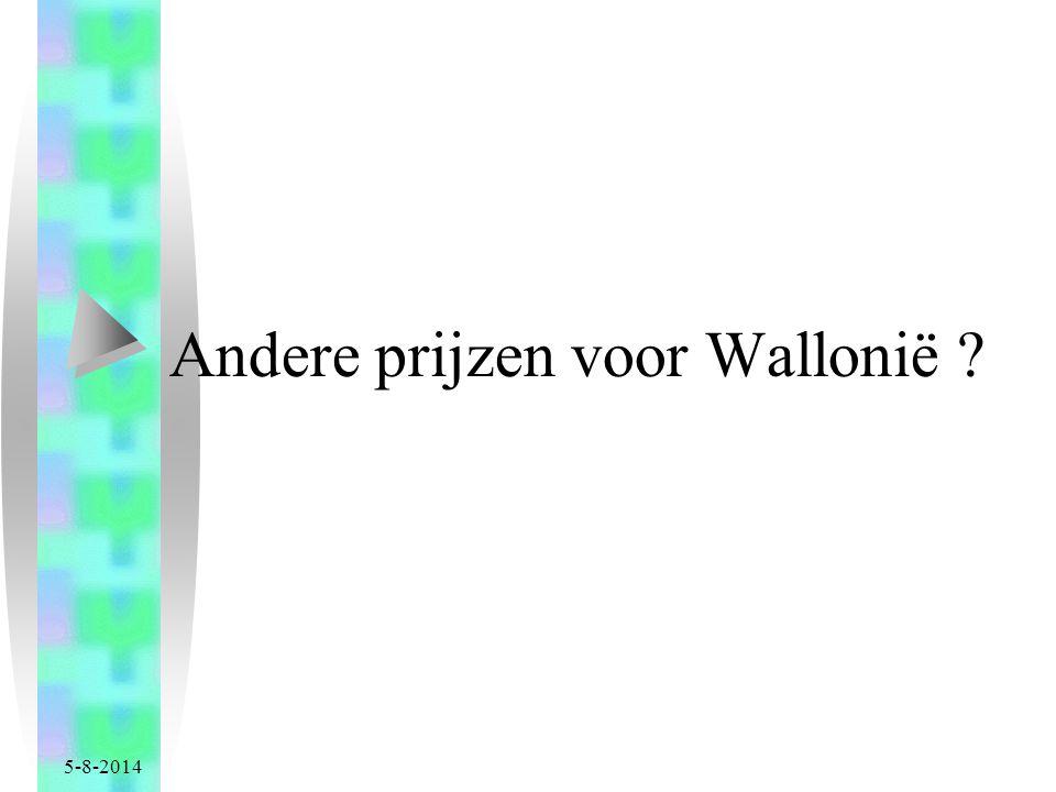 Andere prijzen voor Wallonië
