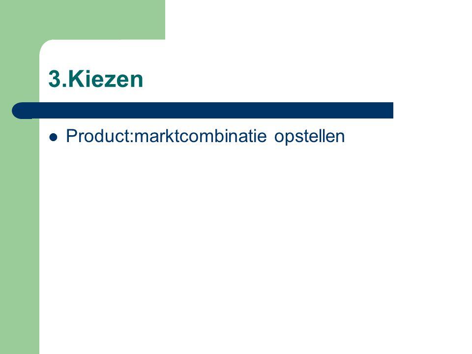 3.Kiezen Product:marktcombinatie opstellen