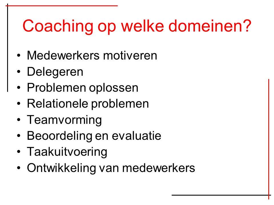 Coaching op welke domeinen