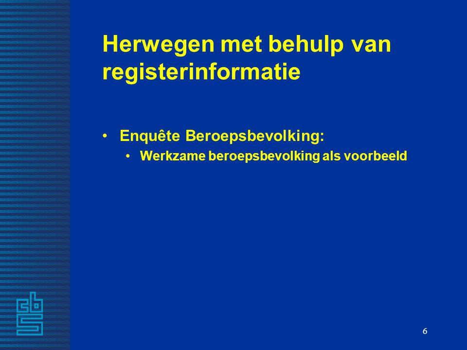 Herwegen met behulp van registerinformatie