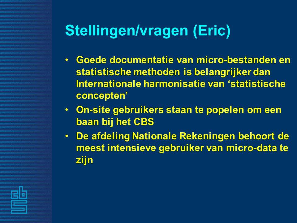 Stellingen/vragen (Eric)