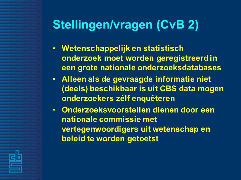 Stellingen/vragen (CvB 2)
