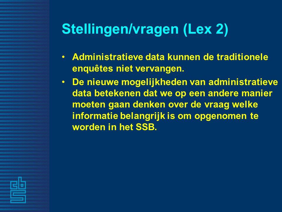 Stellingen/vragen (Lex 2)