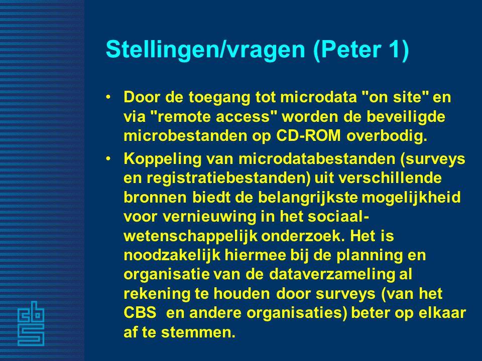 Stellingen/vragen (Peter 1)