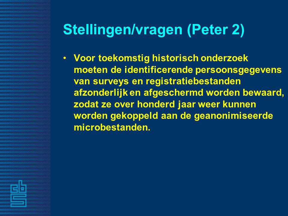 Stellingen/vragen (Peter 2)