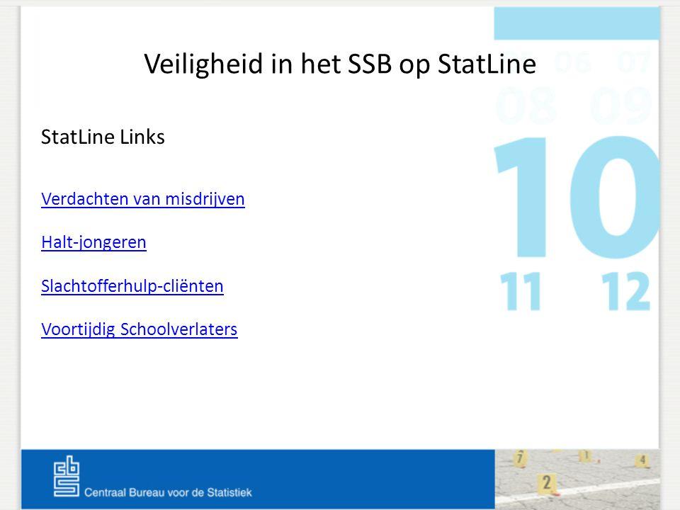 Veiligheid in het SSB op StatLine