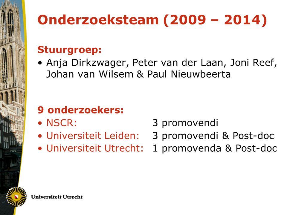Onderzoeksteam (2009 – 2014) Stuurgroep: