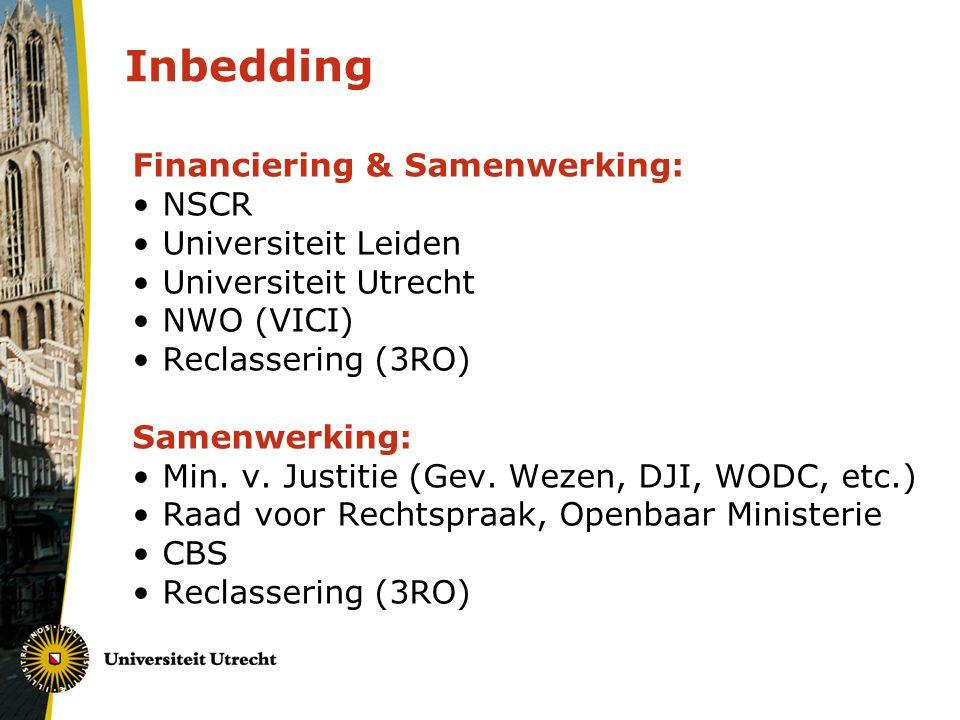 Inbedding Financiering & Samenwerking: NSCR Universiteit Leiden
