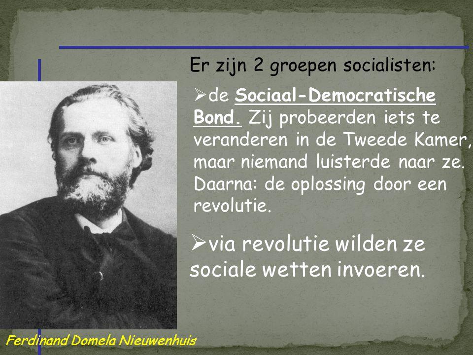 via revolutie wilden ze sociale wetten invoeren.