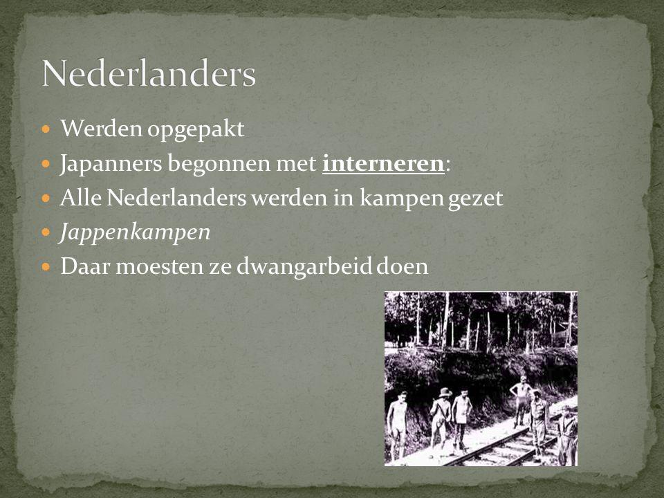 Nederlanders Werden opgepakt Japanners begonnen met interneren: